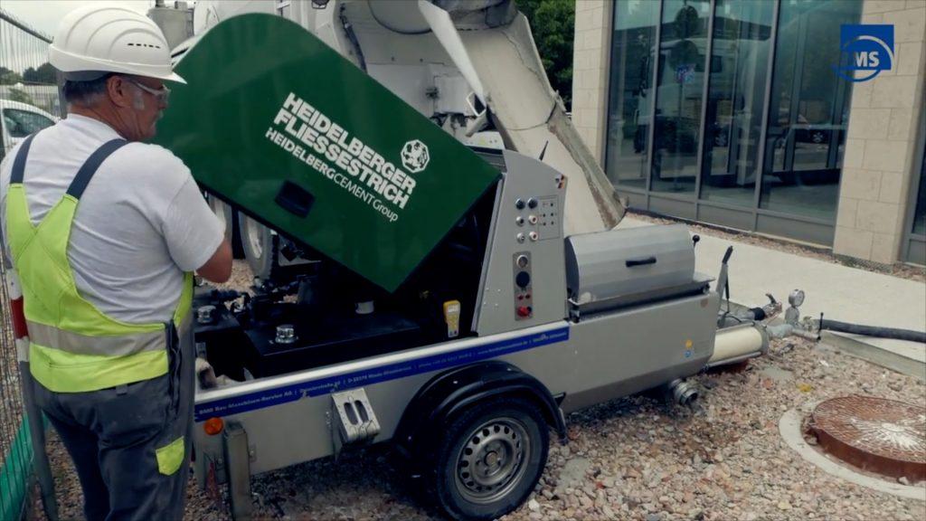 BMS betongmaskin utstyrt med fjernkontroll