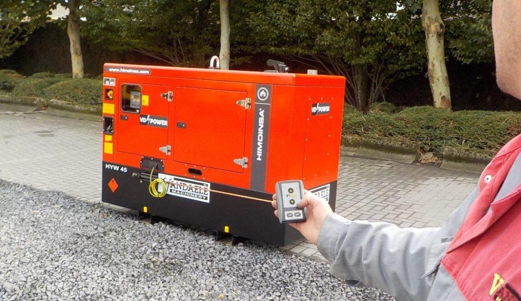 Fjernkontroll med mottaker til generator
